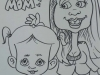 Caricature of Arianna And Mom, Fun Events, Ontario, Canada