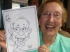 Woman Happy With Caricature, Corporate Party, Fun Events, Toronto, ON, Canada