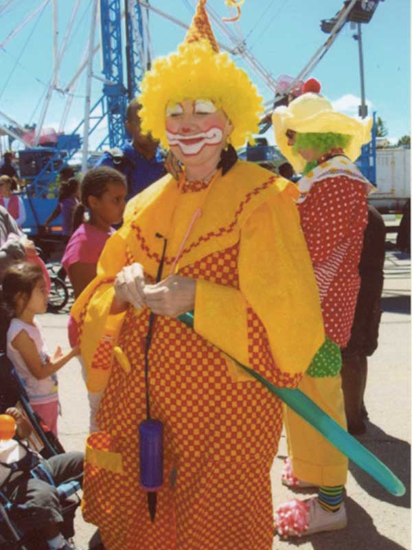 Be-Bop the Clown doing what she loves to do - entertain for the fun of it!