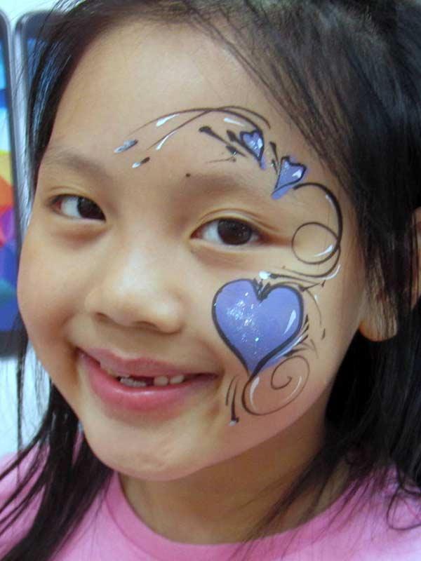 Deyanne facepainting purpleheart 2014