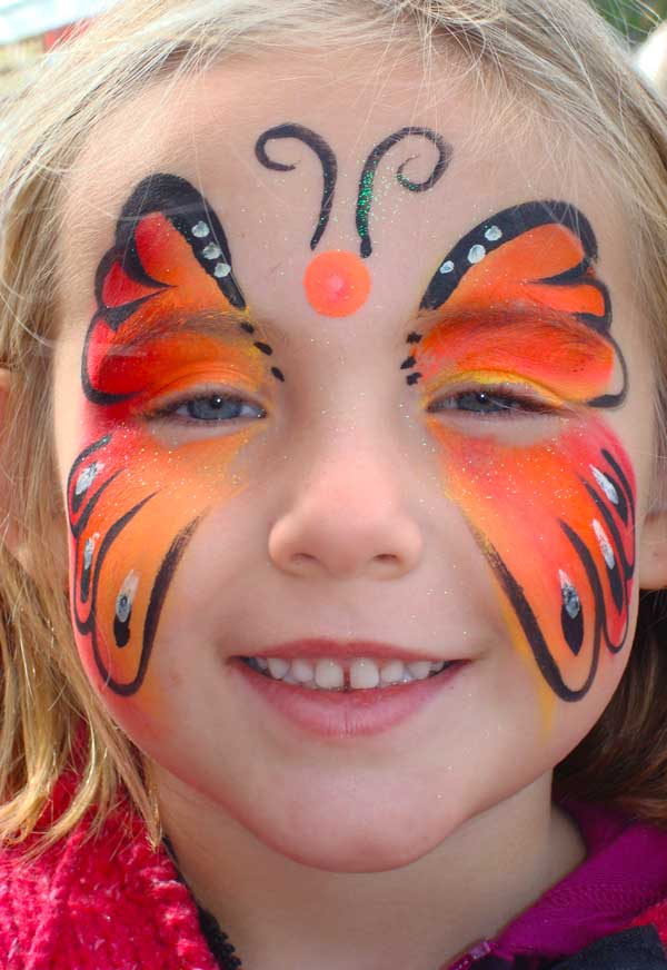 Fall Coloured Butterfly Canadian Face Painting Event