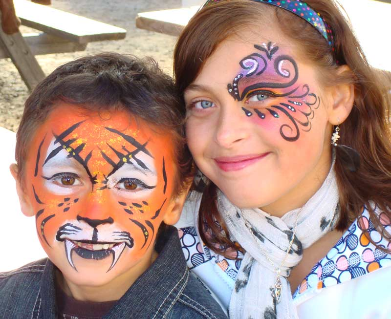 Brother and Sister Community Face Painting Entertainment