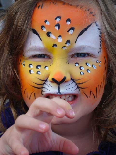 Face Painting Tiger Toronto Ontario Community Event