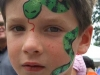 Boy with Snake Face Painting Design Fundraising Event