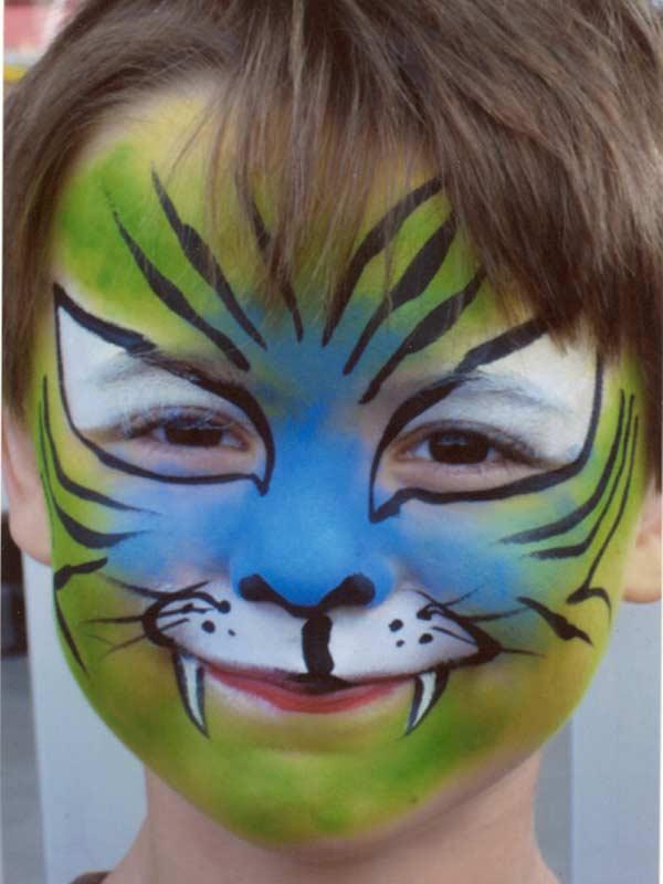Tiger Boy Transformation Face Painting Community Activity Toronto Ontario