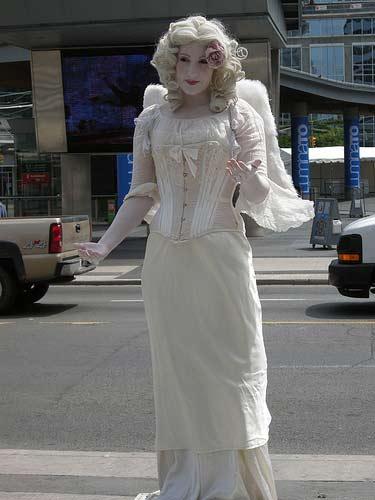 Living Statue Angel, Fun Events, Toronto, ON