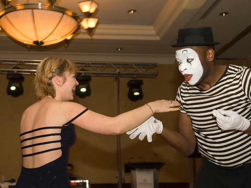 Mime Show, Dancing Skit, Toronto, Ontario, Canada