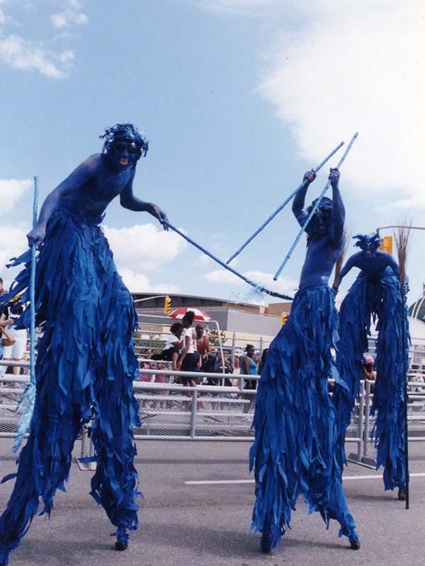 Caribana Blue Stilt Walkers