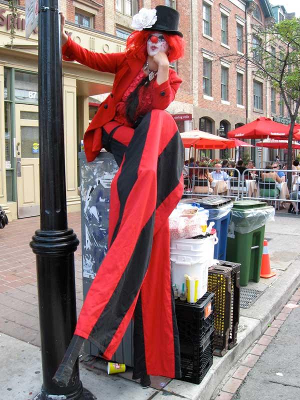 Stilt Walker, Street Festivals, Fairs, Community Events, Ontario, Canada