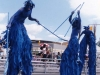 Caribana Blue Stilt Walkers