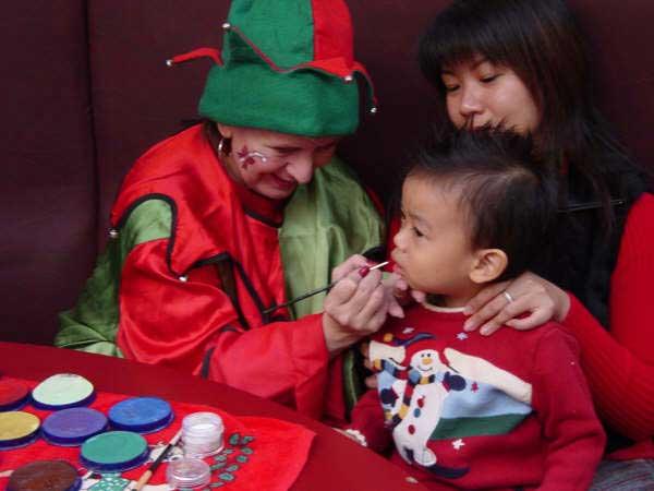 Face Painting Elf Christmas Holidays Toronto Ontario