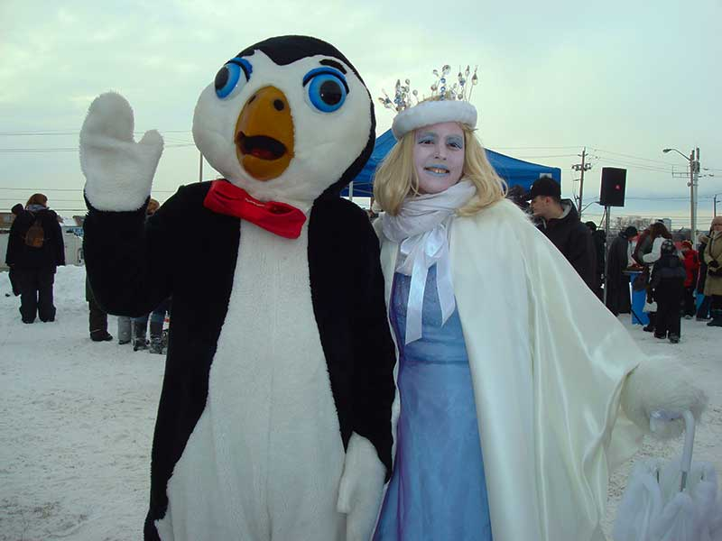 Winter Festival with holiday characters Toronto Ontario