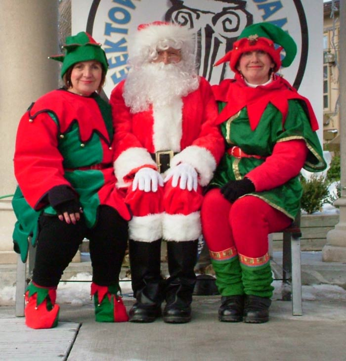 Santa and his two Elves