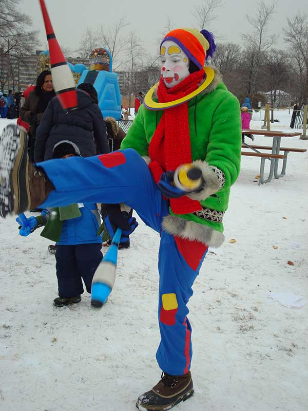 Juggling at winterfest Toronto Ontario Canada